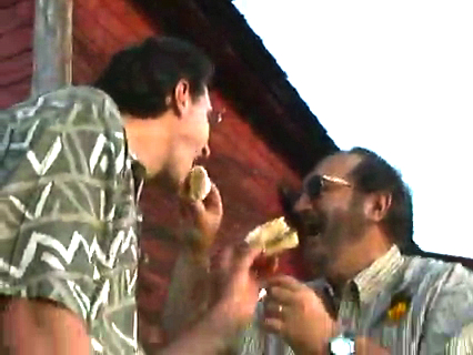 John Scagliotti makes it legal with David Hall in one of the first such ceremonies in Vermont, 2001